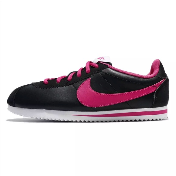 lowest price 9f297 42461 NIKE CORTEZ BLACK PINK WOMENS SHOES NEW CLASSIC